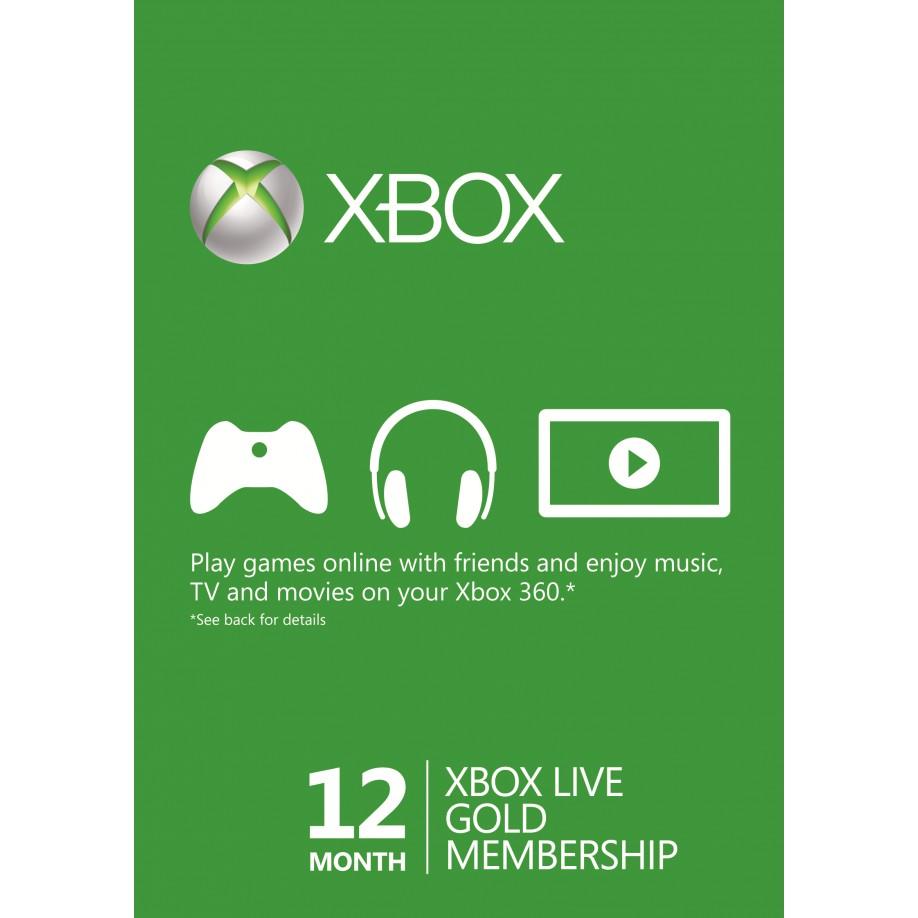Carte Xbox Live Gold